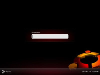 Ubuntu Jaunty login screen